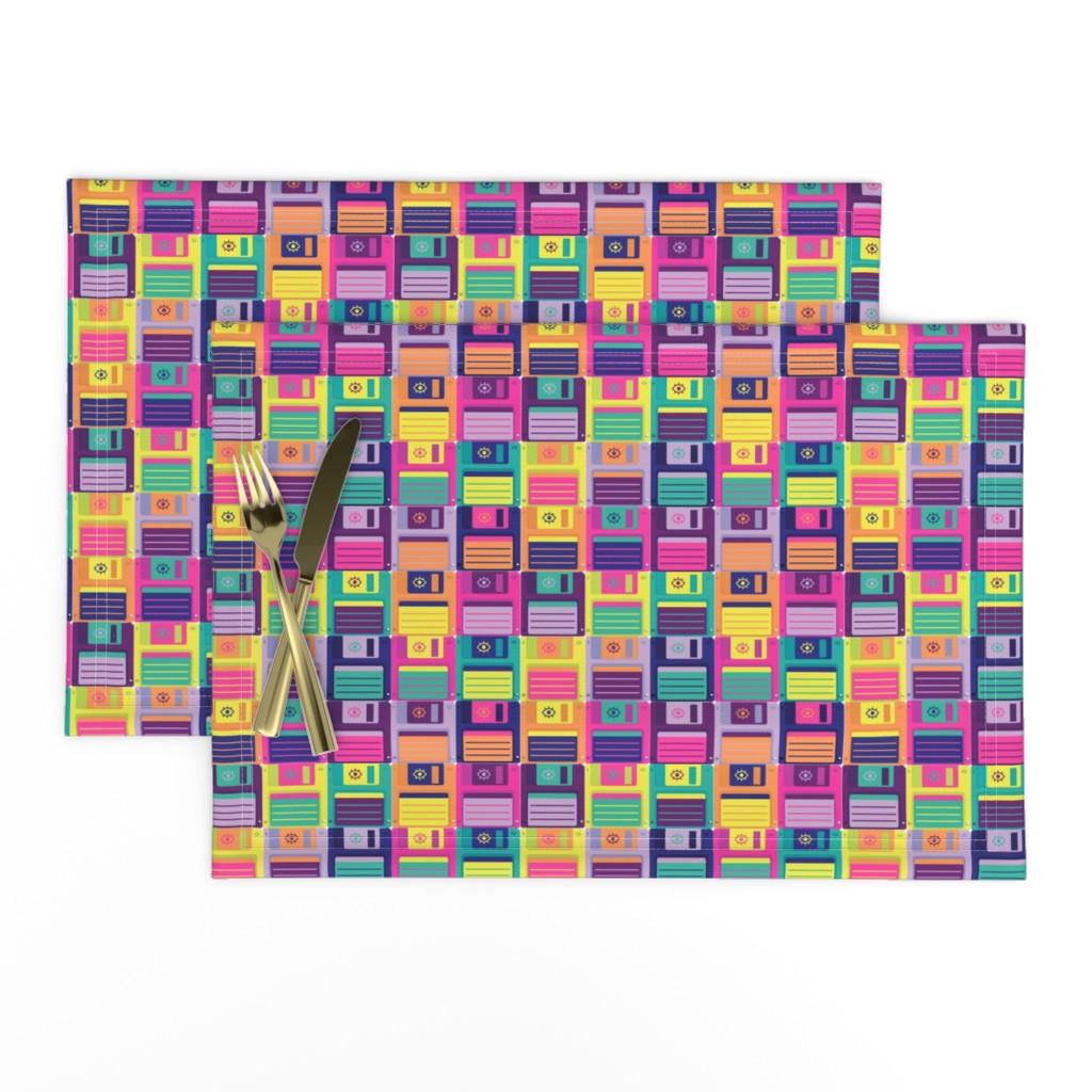 Lamona Cloth Placemats featuring Eye Miss Retro Storage by miranema