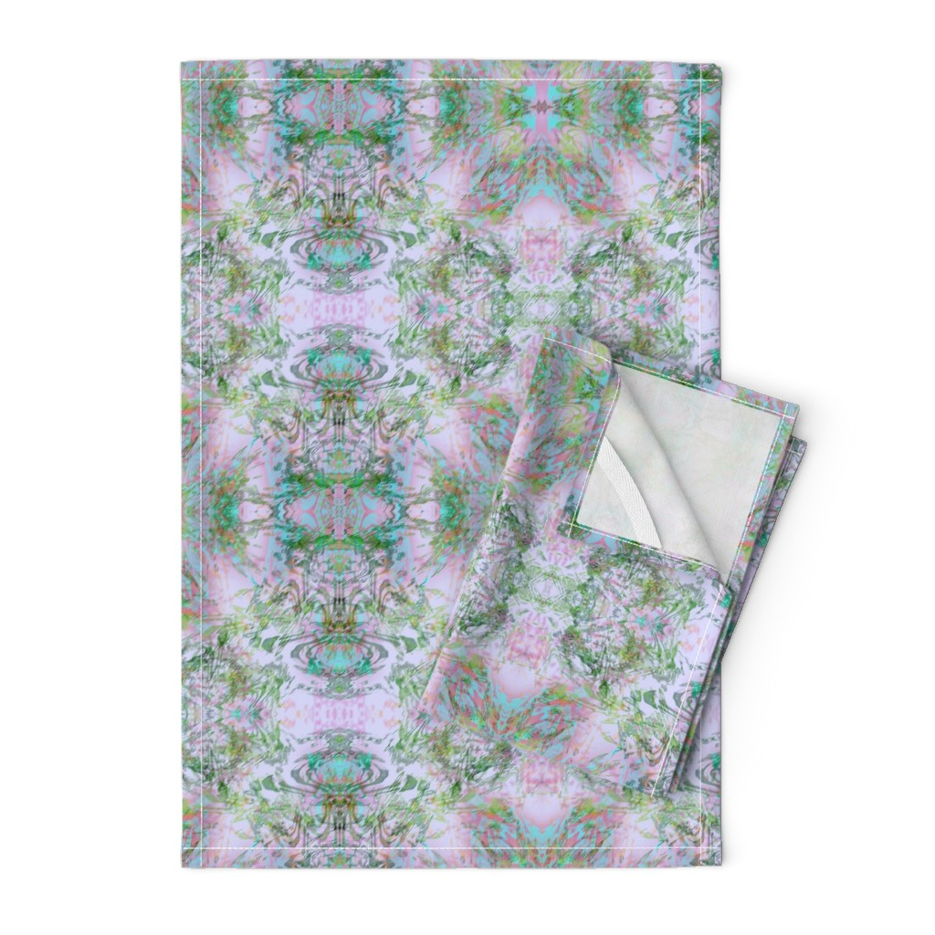Orpington Tea Towels featuring Mock Floral Royal Crown Pattern by pissykrissy