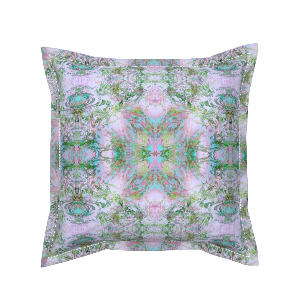Serama Throw Pillow featuring Mock Floral Royal Crown Pattern by pissykrissy