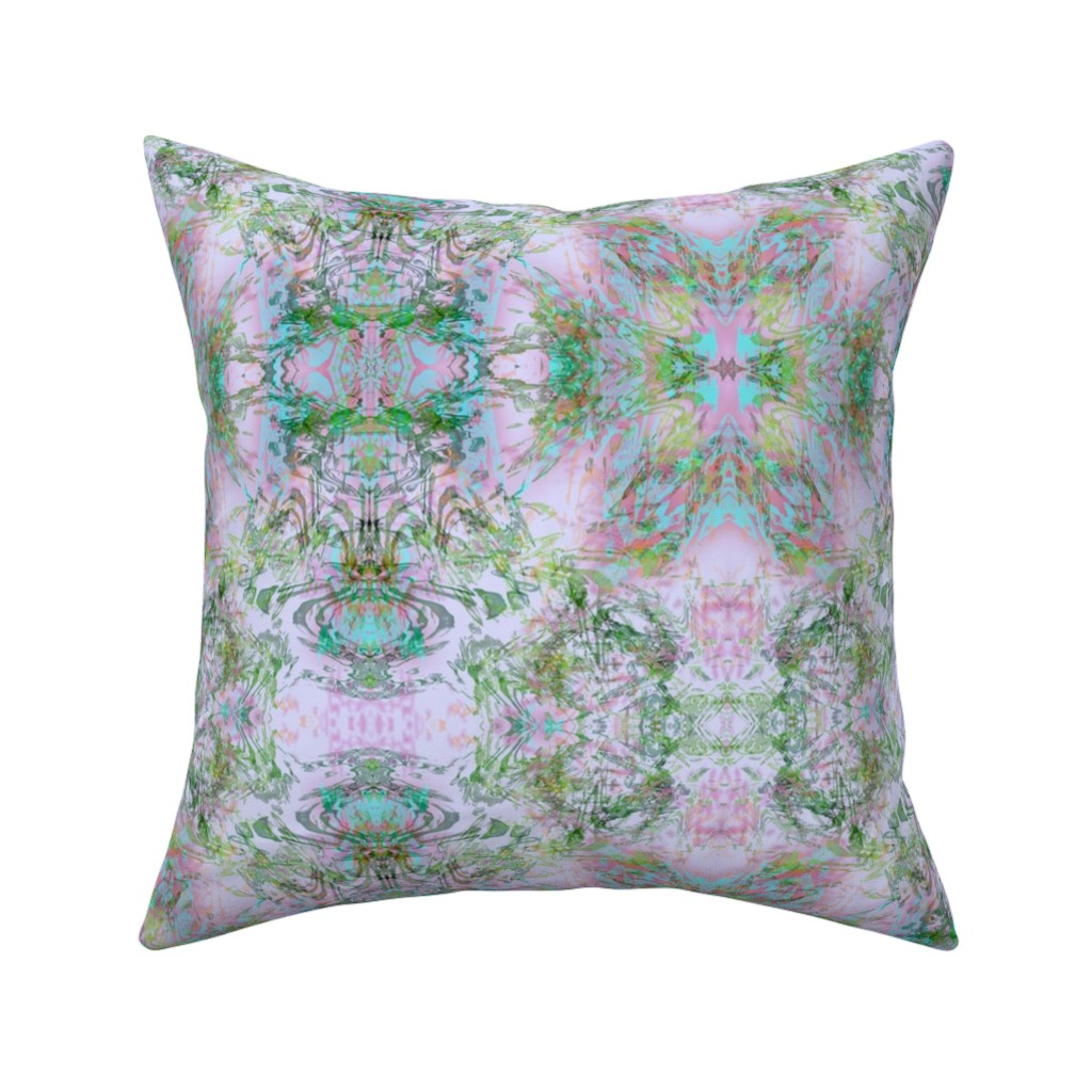 Catalan Throw Pillow featuring Mock Floral Royal Crown Pattern by pissykrissy