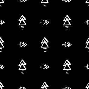 Monochrome geometric black and white elements