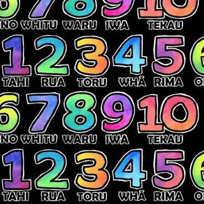 Te Reo Numbers - on black