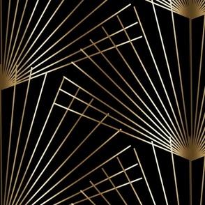 Gold palmettos on black