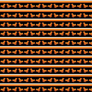 Spooky Orange Bats