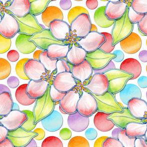 Apple Blossom Rainbow Dots