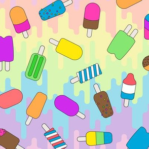 summer popsicles bright