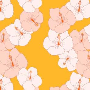 hibiscus lei zigzag on marigold