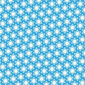Mini Kawaii Winter Snowflakes (Blue Sky)