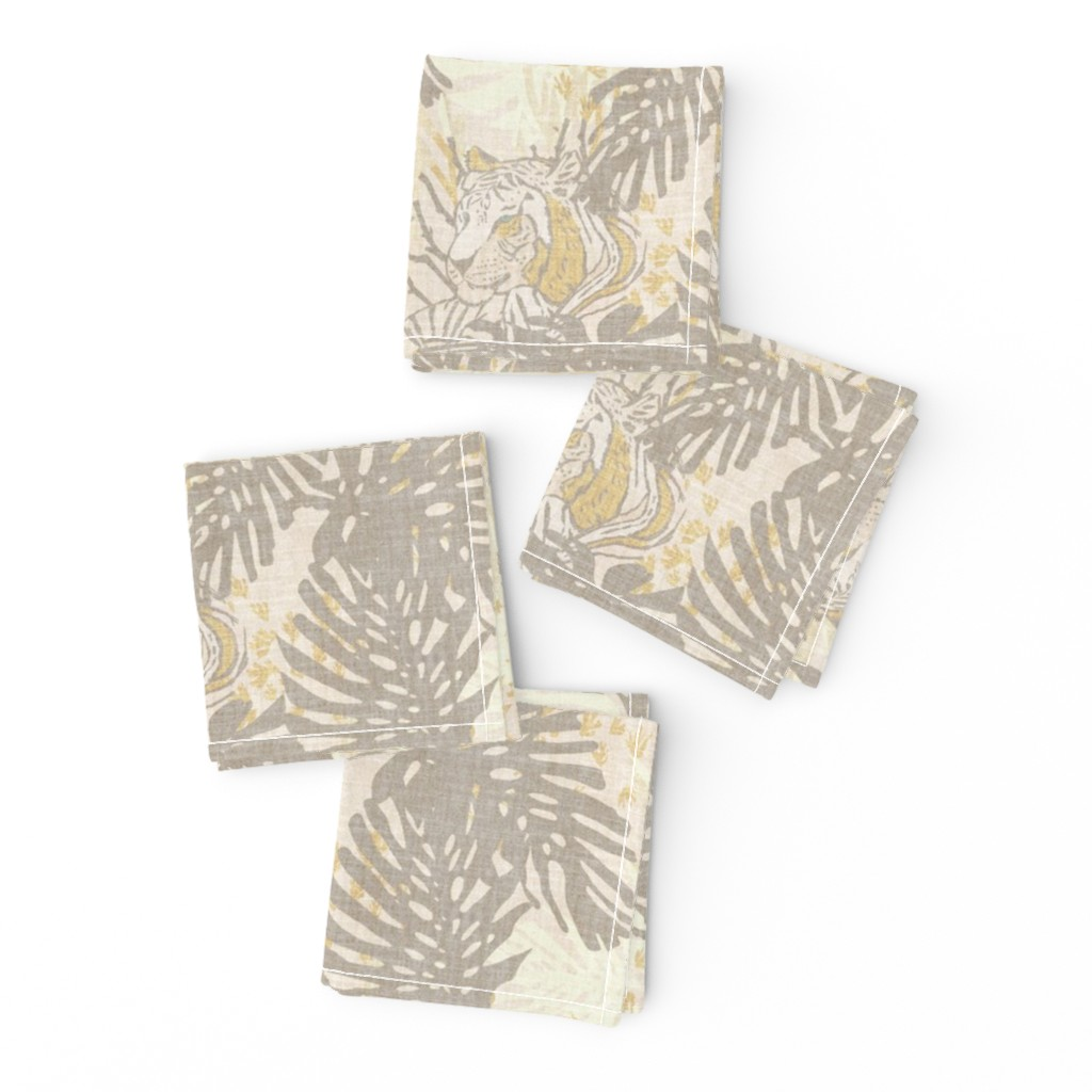 Frizzle Cocktail Napkins featuring TIGER LINEN by holli_zollinger