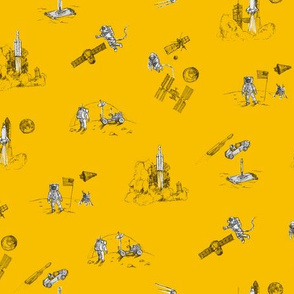 Space Race - Mustard Yellow