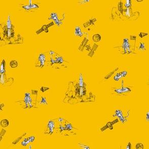 Space Race - Mustard Yellow