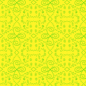 Squiggles & Spirals in Yellow