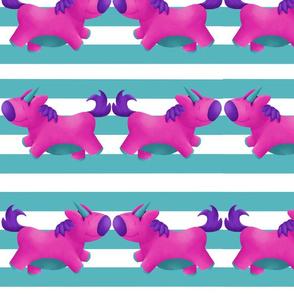 Happy Teal Stripes