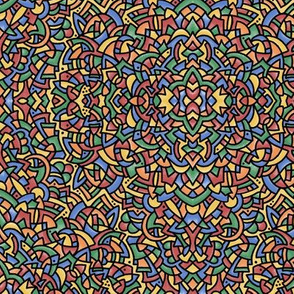 """Colorful Doodle Pattern 1807  10.5"""""""
