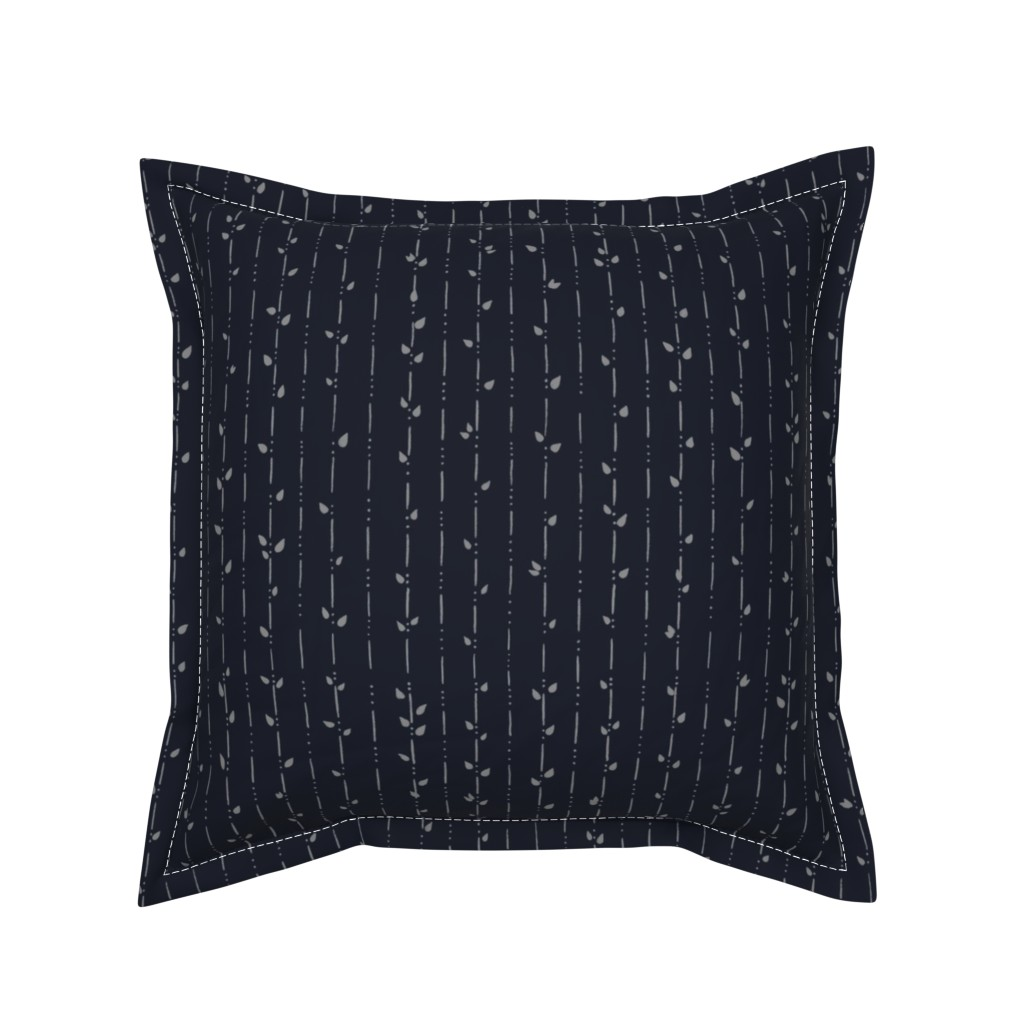 Serama Throw Pillow featuring Dainty Vines by karina_love