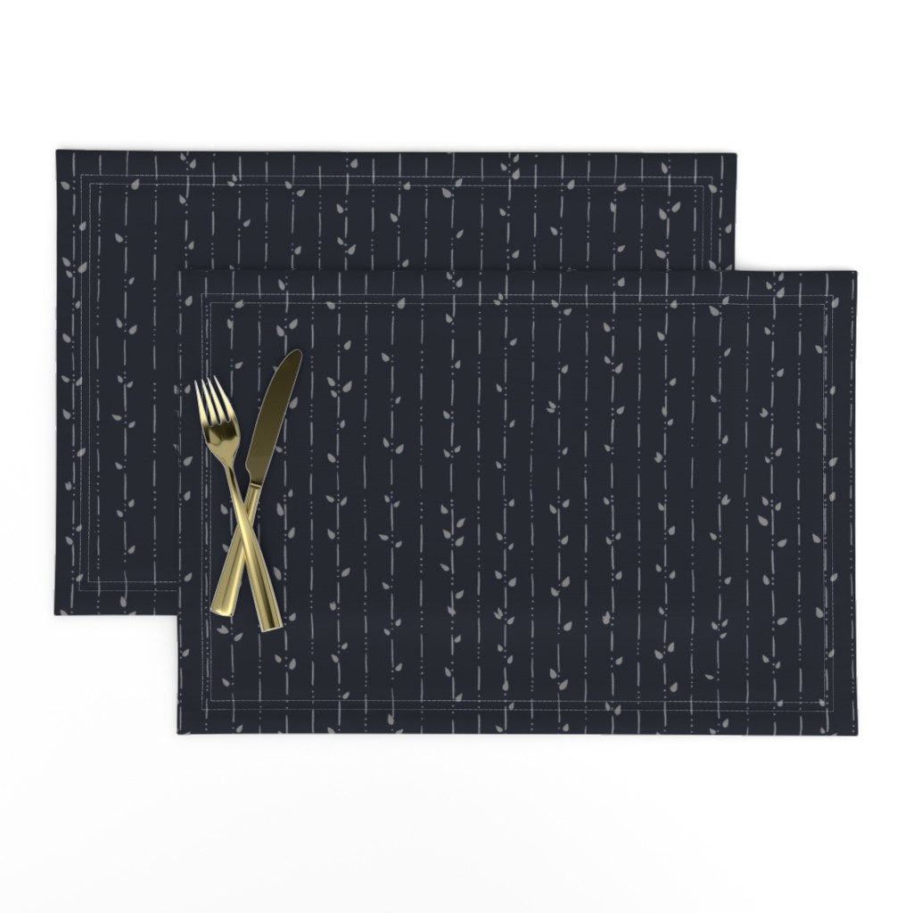 Lamona Cloth Placemats featuring Dainty Vines by karina_love