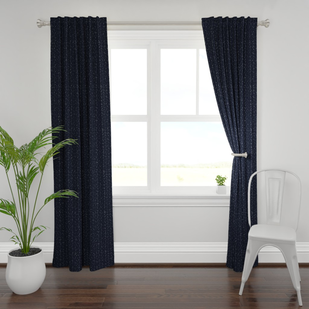 Plymouth Curtain Panel featuring Dainty Vines by karina_love
