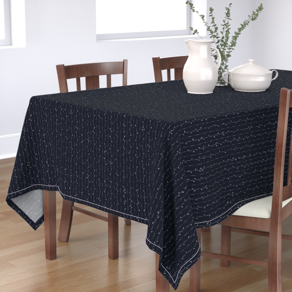 Bantam Rectangular Tablecloth featuring Dainty Vines by karina_love