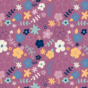 Fun Floral - purple