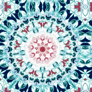 Symmetrical Blush & Blue Mandala - Big