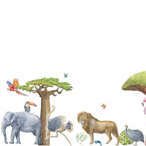 Watercolor Safari Parade