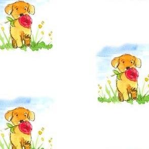 Puppy Flower Power