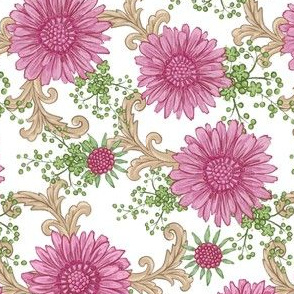 Pink Floral with Ornaments
