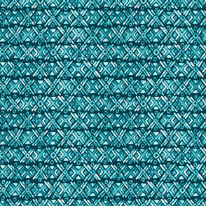 Sonoran Stripe - Oasis Teal - Smaller Scale