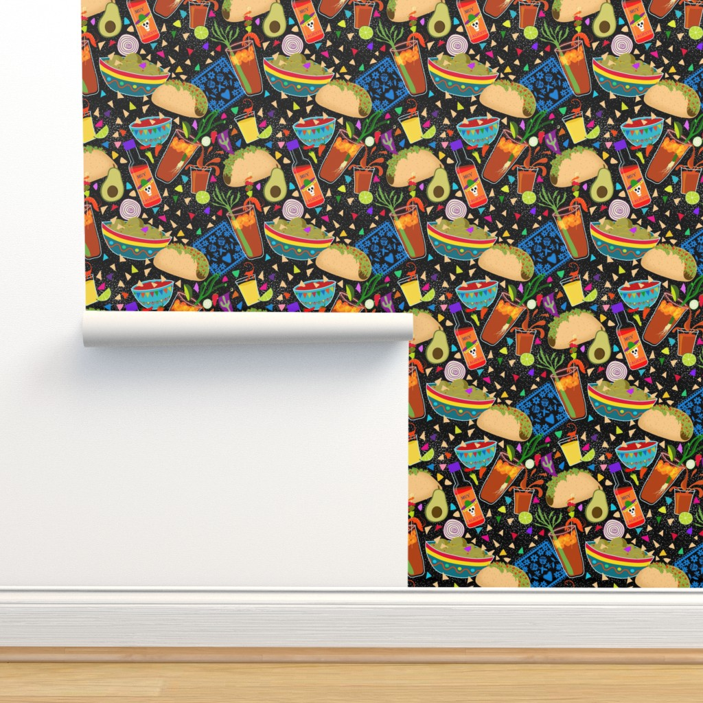 Isobar Durable Wallpaper featuring Muy Caliente Tacos and Michaladas  by vo_aka_virginiao