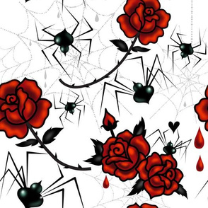 Large-Black Widows and Roses
