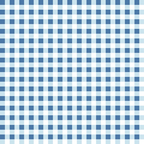gingham light blue and white small