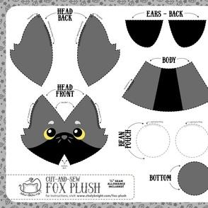 Cut & Sew Fox Plush Gray