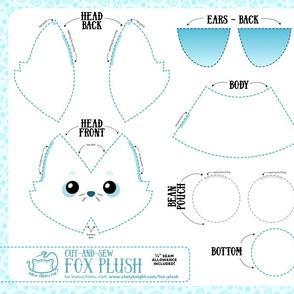 Cut & Sew Fox Plush Ice Blue