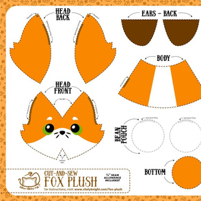Cut & Sew Fox Plush Orange
