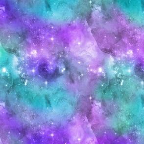 "Teal & Purple Galaxy 12"""