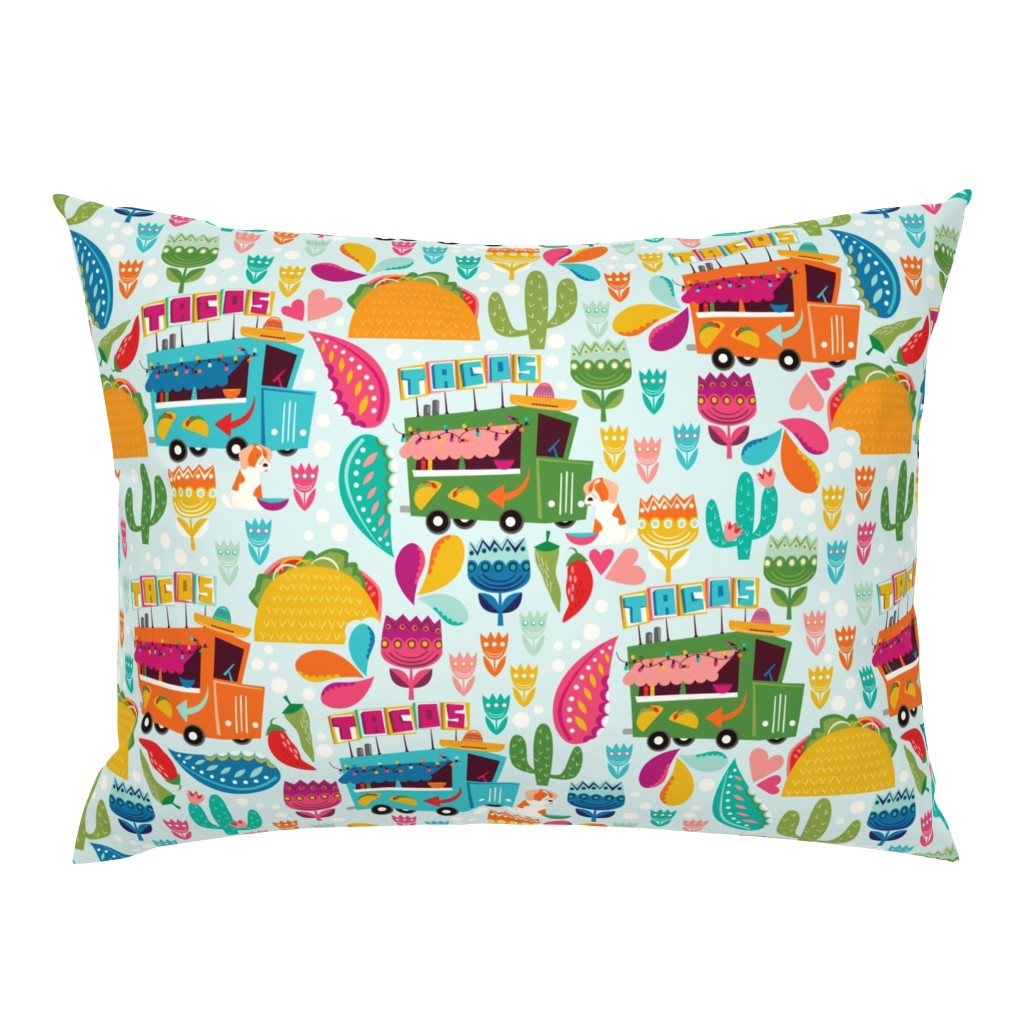 Campine Pillow Sham featuring Taco Tuesday by oliveandruby