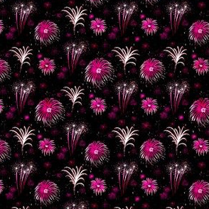 Summer Fireworks Show in pink