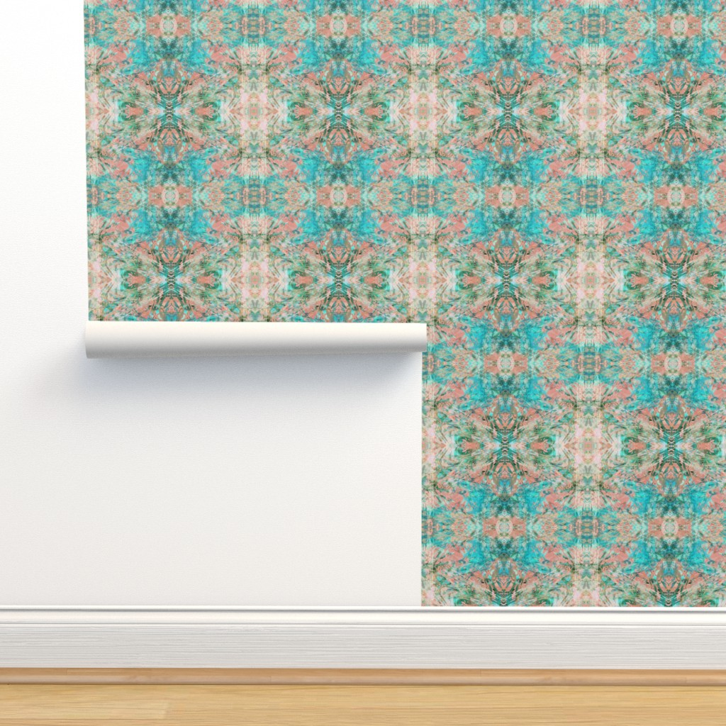 Isobar Durable Wallpaper featuring New Mock Floral Abstract Tribal Direction Pattern by pissykrissy