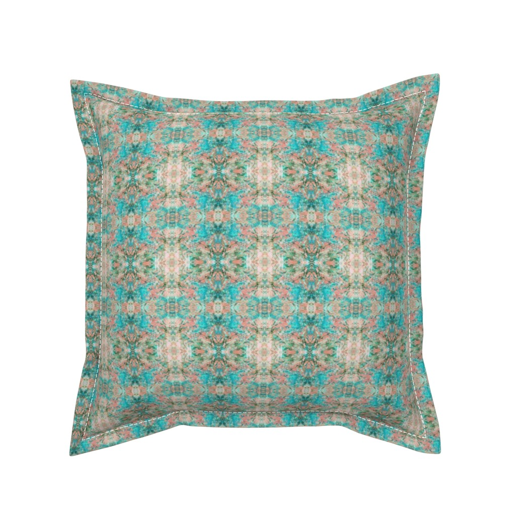 Serama Throw Pillow featuring New Mock Floral Abstract Tribal Direction Pattern by pissykrissy