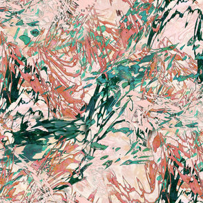 Mock Floral Blush Abstract Repeat