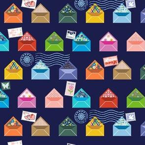 Pen Pals* (Jackie Blue) || envelope envelopes post snail mail correspondence postmark stamp stamps love special delivery letter writing floral flower flowers