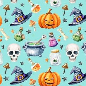 Witches And Spells On Halloween Night