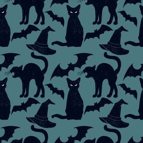 Black Cats, Flying Bats and Pointy Hats