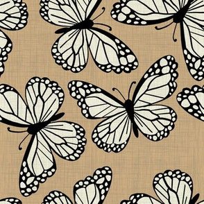 Butterflies on linen