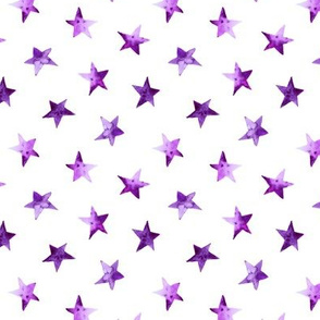Watercolor purple stars    pattern for nursery, baby products