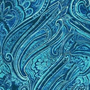 paisley-teal blue