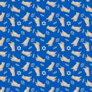 Tiny cream Shiba Inu - Hanukkah