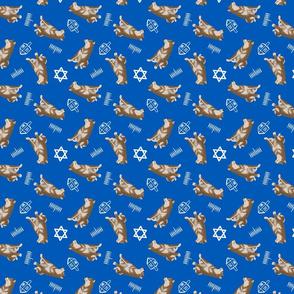 Tiny sesame Shiba Inu - Hanukkah