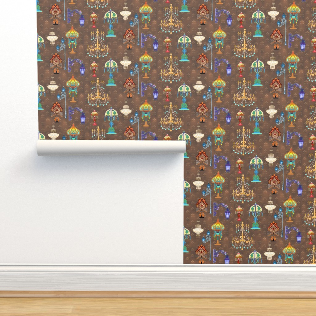 Isobar Durable Wallpaper featuring Light Fixtures of Victorian Style by adrianne_vanalstine