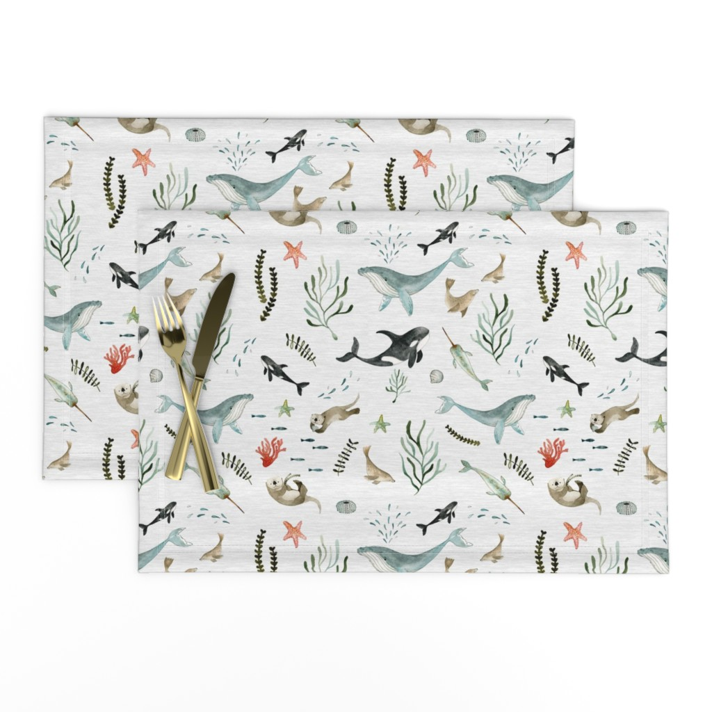 Lamona Cloth Placemats featuring Pacific Ocean by little_pine_artistry